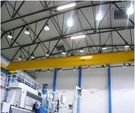 Nuestras campanas industriales de Leds reducen hasta en un 80% el consumo eléctrico.