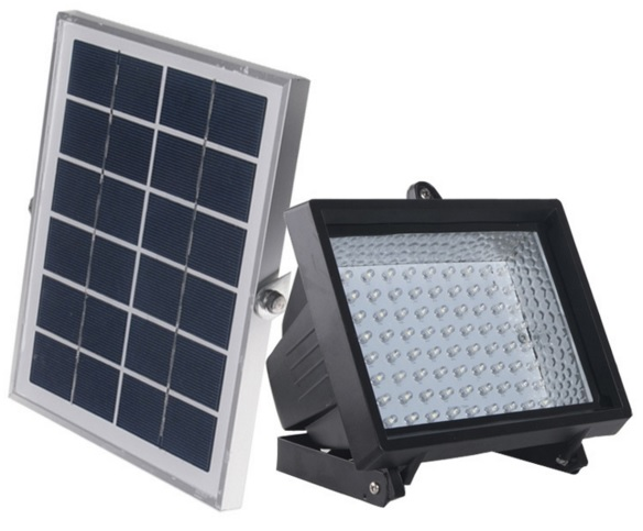 Green in lamparas solares for Lampara solar led