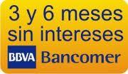 Bancomer a 3 y 6 meses sin intereses
